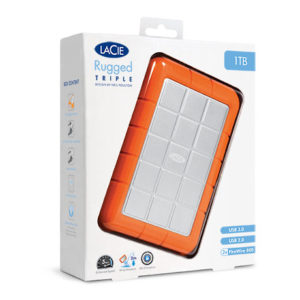 Lacie Rugged USB 3.0 External Hard Drive 1TB